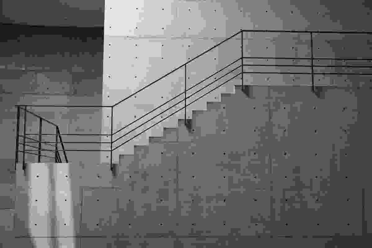 Naoshima Contemporary Art Museum by Tadao Ando, Naoshima. The stairs are carefully considered during design, not fitted with treads or nosings during construction