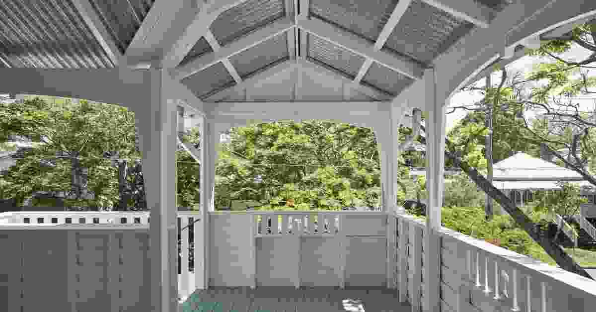 The front verandah of the 1930s Queenslander.