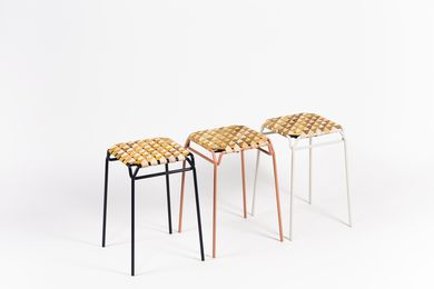 Taburet birch bark stool by Moya.