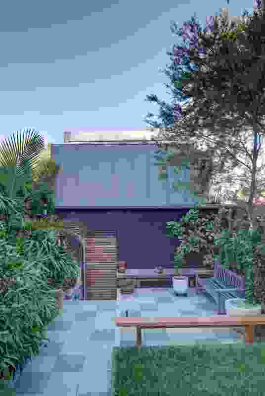 The rear of Laneway Studio faces the rear of the terrace house.