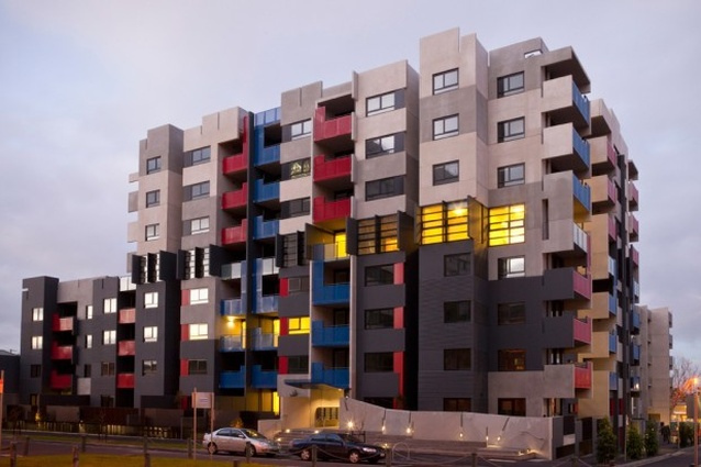 The view of the new development from Drummond Street.