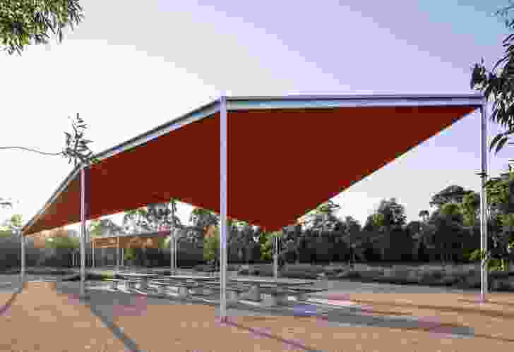 Bungaribee Park Shelters by Stanic Harding Architects with Parramatta Park and Western Sydney Parklands Trust.