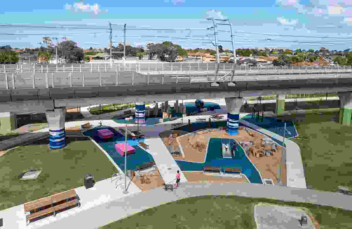 Caulfield to Dandenong Level Crossing Removal Project by Aspect Studios and Cox Architecture.