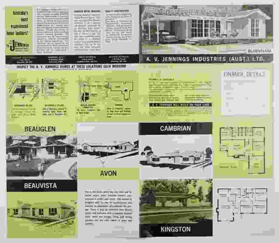 AV Jenning Homes Brochure 1960s.