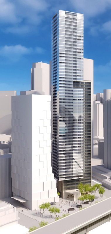 The latest design of the Circular Quay tower.