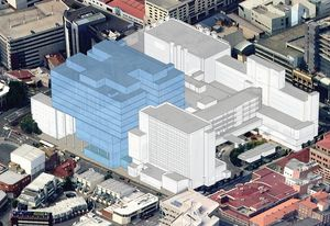 The new masterplan by Lyons for the Royal Hobart Hospital.