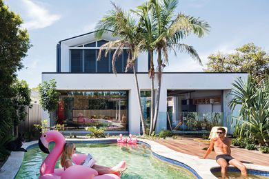 Elements of suburban living – swimming pool, garage, room for the children – have been incorporated without compromising on the quality of design.
