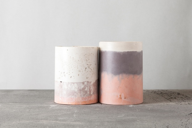 Cement objects by Maddie Sharrock.
