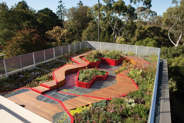 Burnley Living Roofs by Hassell is a research and demonstration garden at the University of Melbourne's Burnley Campus.