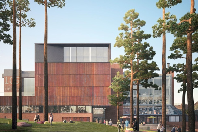 TL Robertson Library by Hames Sharley and Danish practice Schmidt Hammer Lassen Architects.