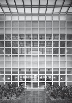 Internal, skylit courtyard. Photograph John Gollings.