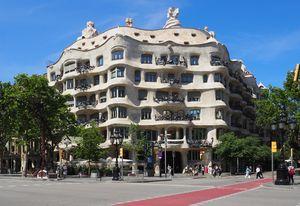 Casa Mila by Antoni Gaudi.