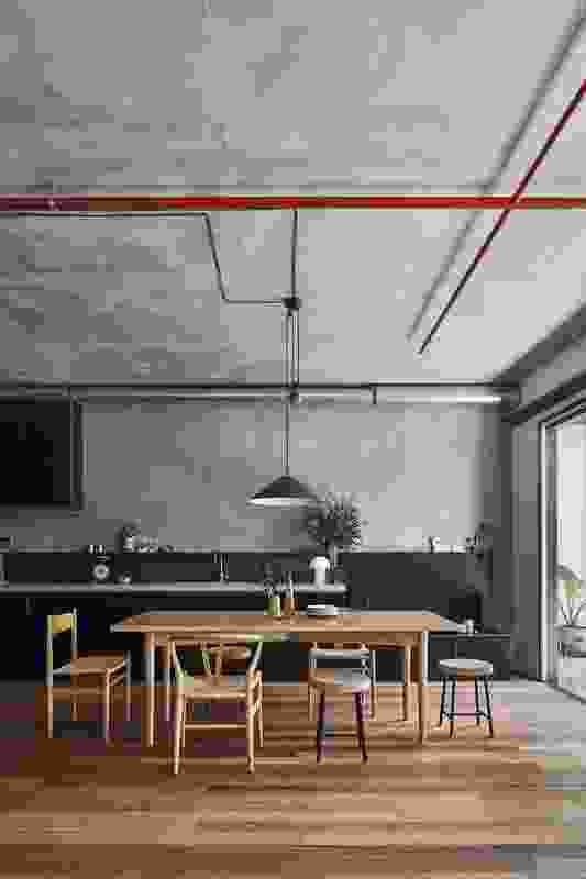 Interior of an apartment in Nightingale 1 by Breathe Architecture.