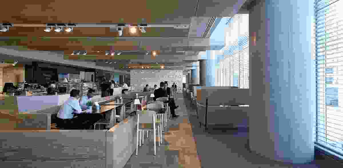 The cafe area includes a variety of settings for different needs.