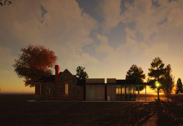 Urrbrae Gatehouse重建项目:Dash Architects。