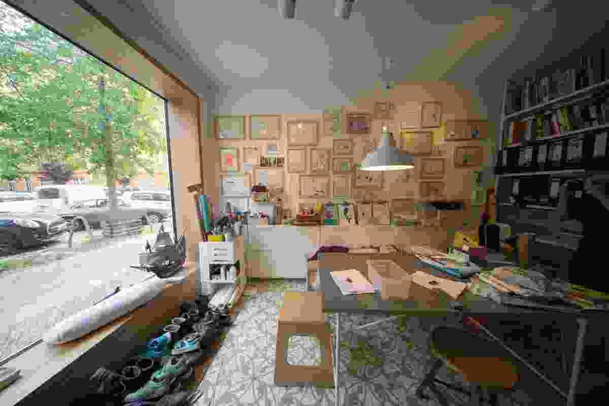 Interior of Ze05 Baugruppe housing project by Zanderroth Architeken.