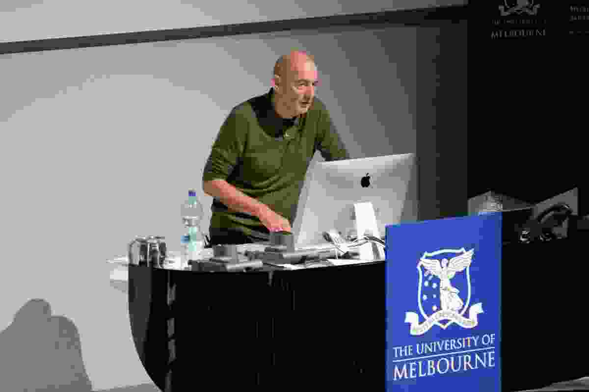 Rem Koolhaas presenting at the Melbourne School of Design.