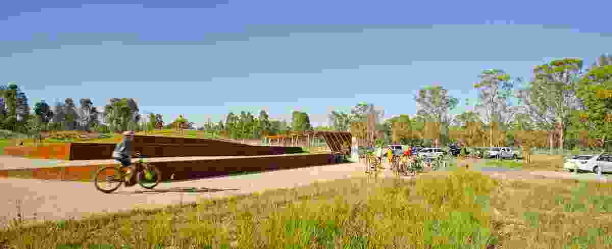 Wylde Mountain Bike Trail by GroupGSA in collaboration with Western Sydney Parklands Trust.