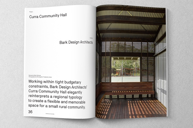 Curra Community Hall designed by Bark Design Architects.