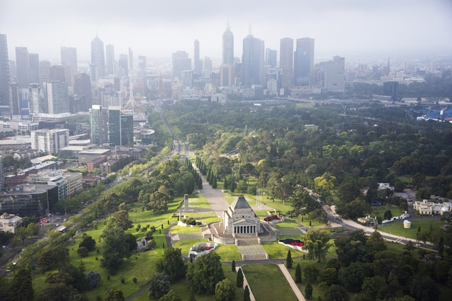 The Shrine of Remembrance, Melbourne.