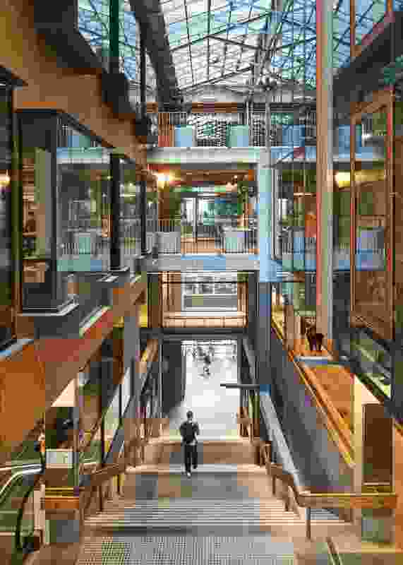 A project design collaboration led by Lyons, New Academic Street opens RMIT University's city campus to Swanston and Bowen Streets, thanks to a series of cross-site links and arcades, conceived as semipublic spaces and reminiscent of Melbourne's famed laneways.