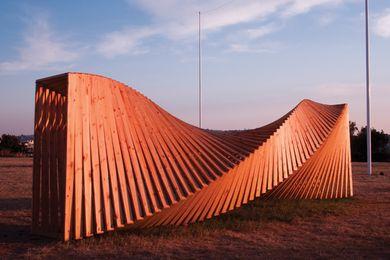 Hilde A. Danielsen, Upside Down Again, Sculpture by the Sea, Cottesloe 2013.