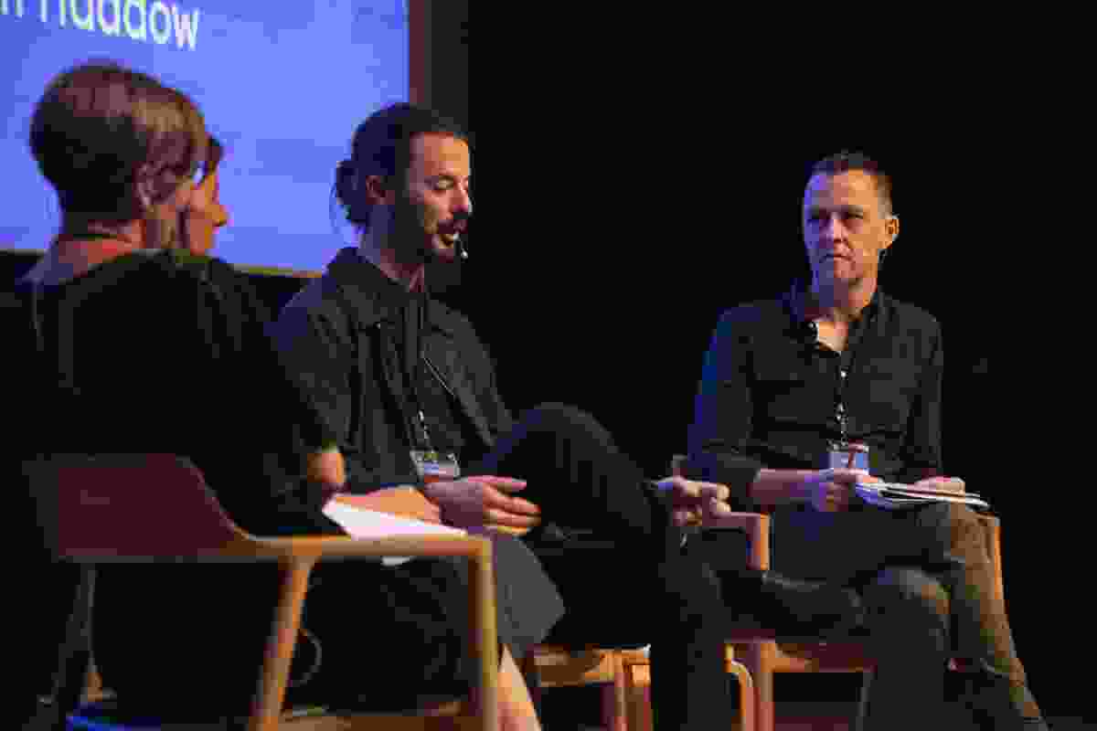 The symposium concluded with a panel discussion featuring Lee Hillam (Dunn and Hillam Architects and former principal design advisor and acting director of design excellence, Government Architect NSW), Andy Fergus (urban designer, City of Melbourne), and curators Laura Harding and Adam Haddow.