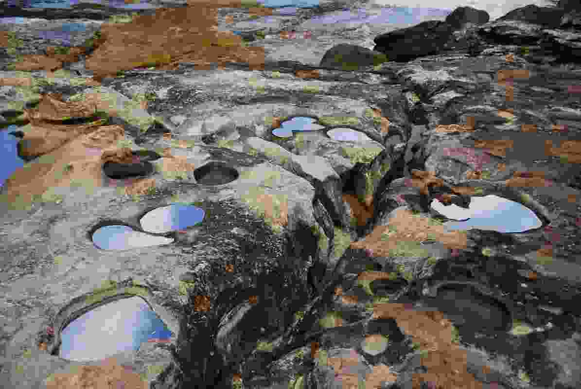 As the elements intervened, the Alchemy rockpools became indistinguishable from the real ones.
