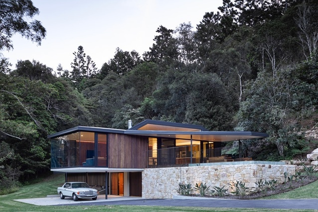 Natural Lane House by Dominic Finlay Jones Architects.