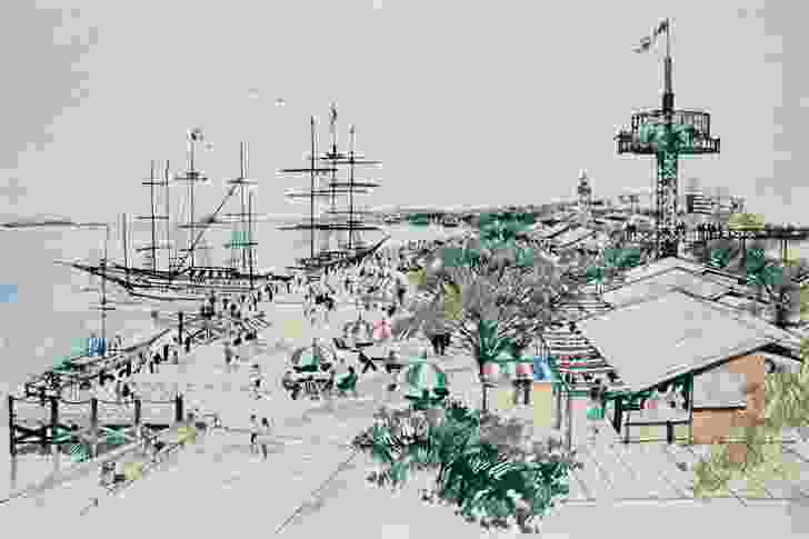 Tract Consultants won a 1981 competition to masterplan the foreshore development.