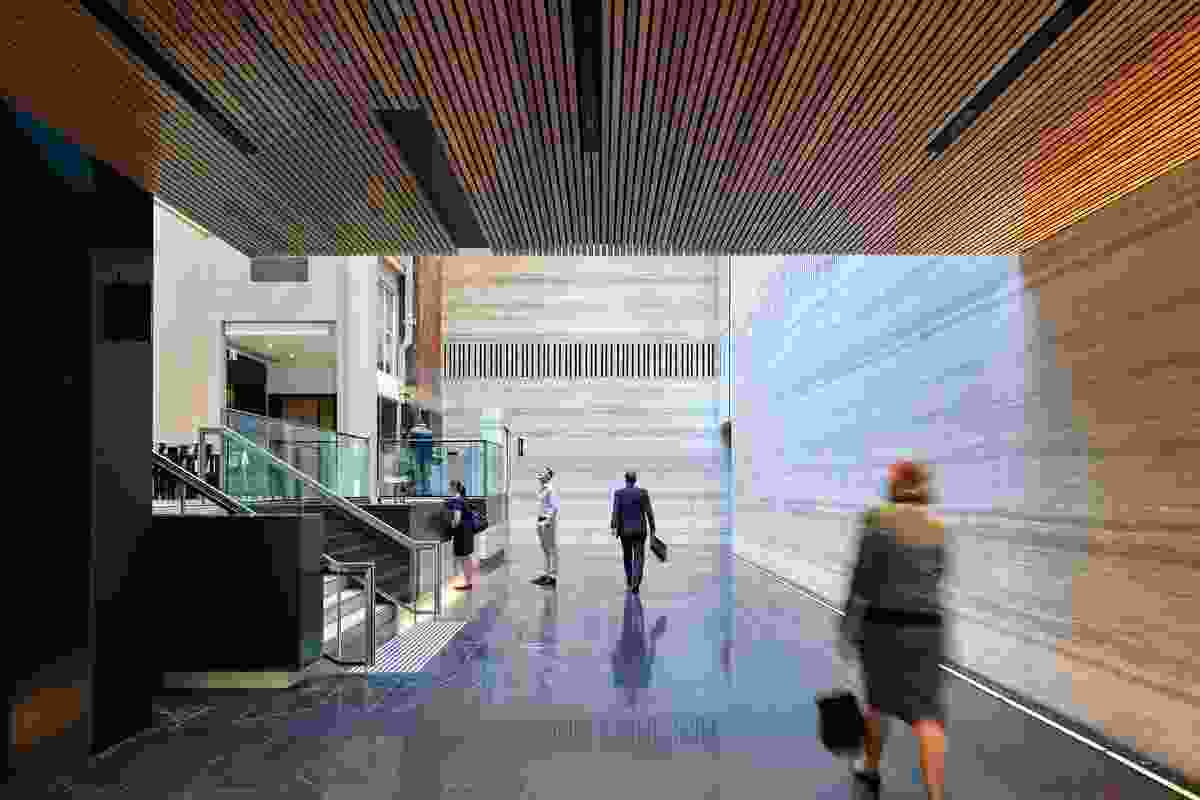 259 Queen Street Main Lobby Refurbishment by Cox Architecture.