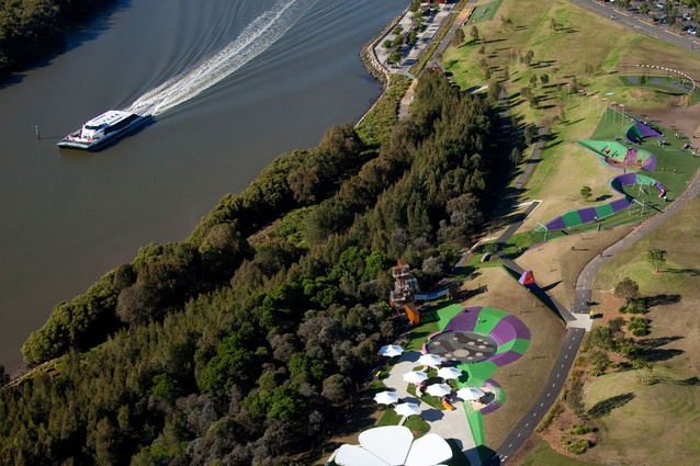 An Aerial Shot Showing Stage 1 And 2 Of Blaxland Riverside Park