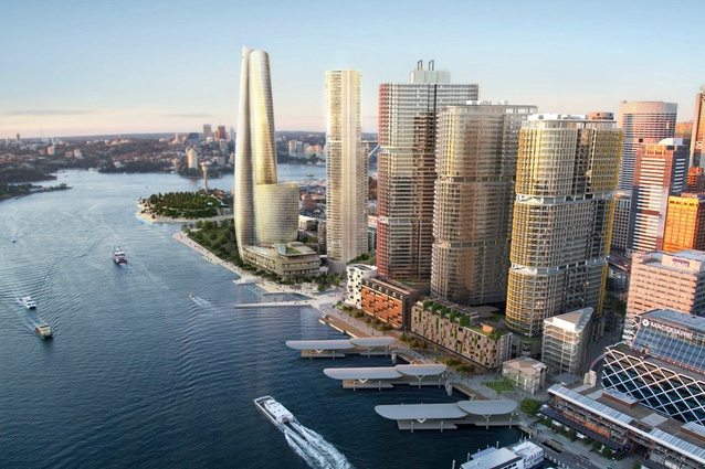 The proposed Crown Resorts hotel tower by Wilkinson Eyre Architects.