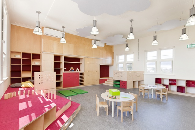 FROEBEL Learning Centre by Steffen Welsch Architects in North Fitzroy, Melbourne, converted an old school building into a bi-lingual early child care centre.
