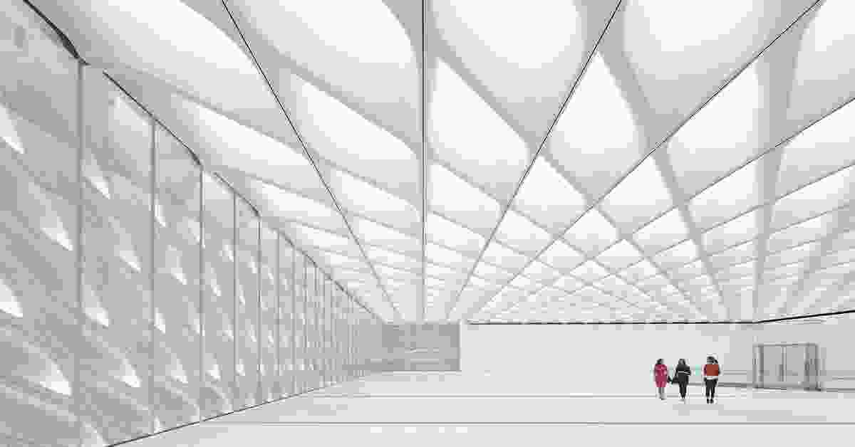 The Broad Museum by Diller Schofidio and Renfro.