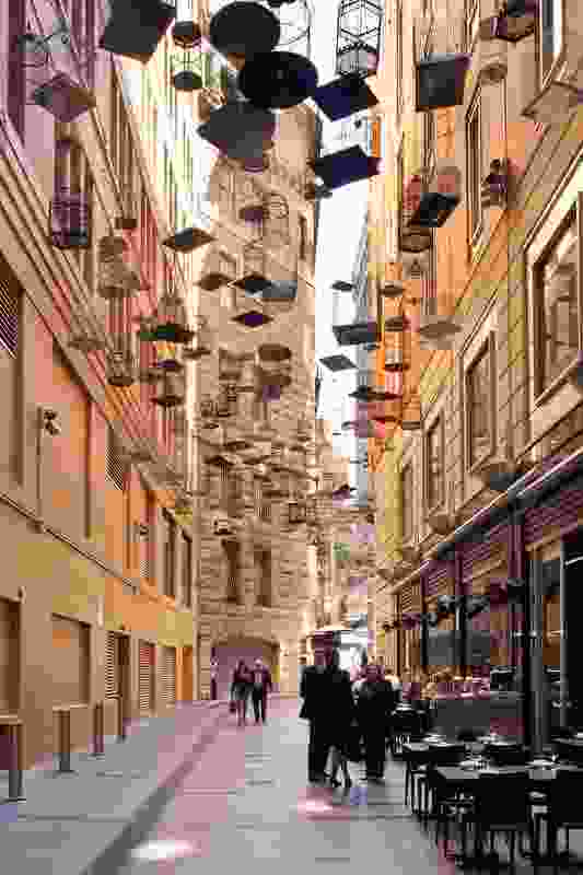 Angel Place, Sydney by day, where Michael Thomas Hill's Forgotten Songs installation emits birdsong.