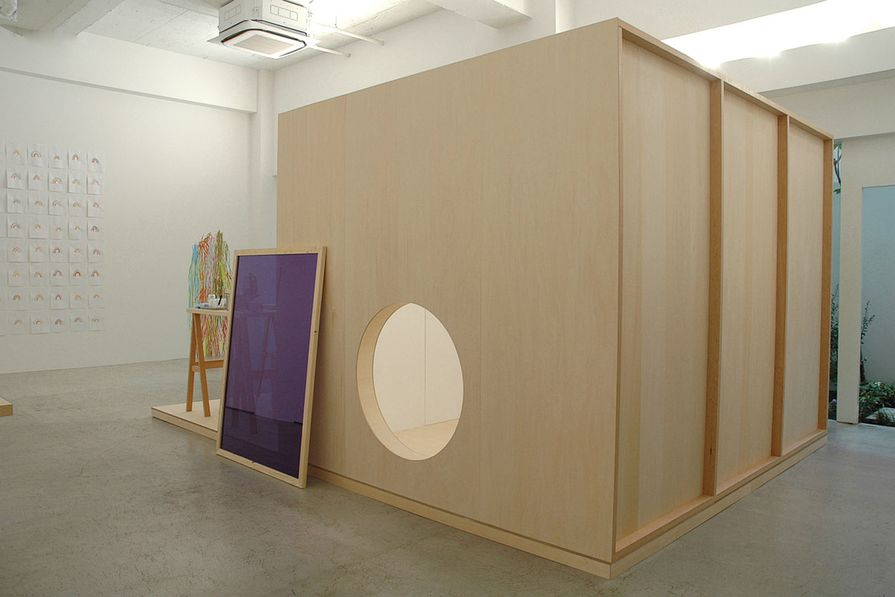 Installation view of Light Construction exhibition, 2008.