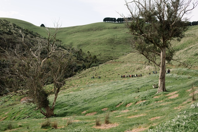 Karl and Rachel's 100-acre property near Glen Forbes, Victoria.