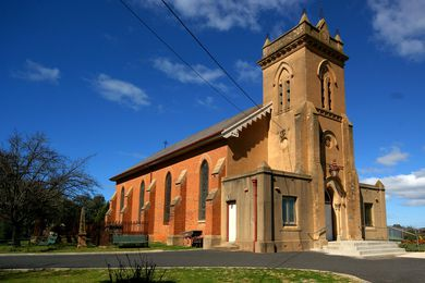 The Holy Trinity Church is an early Bathurst construction, completed in 1834. The red-brick is typical of the colonial building period in the region.