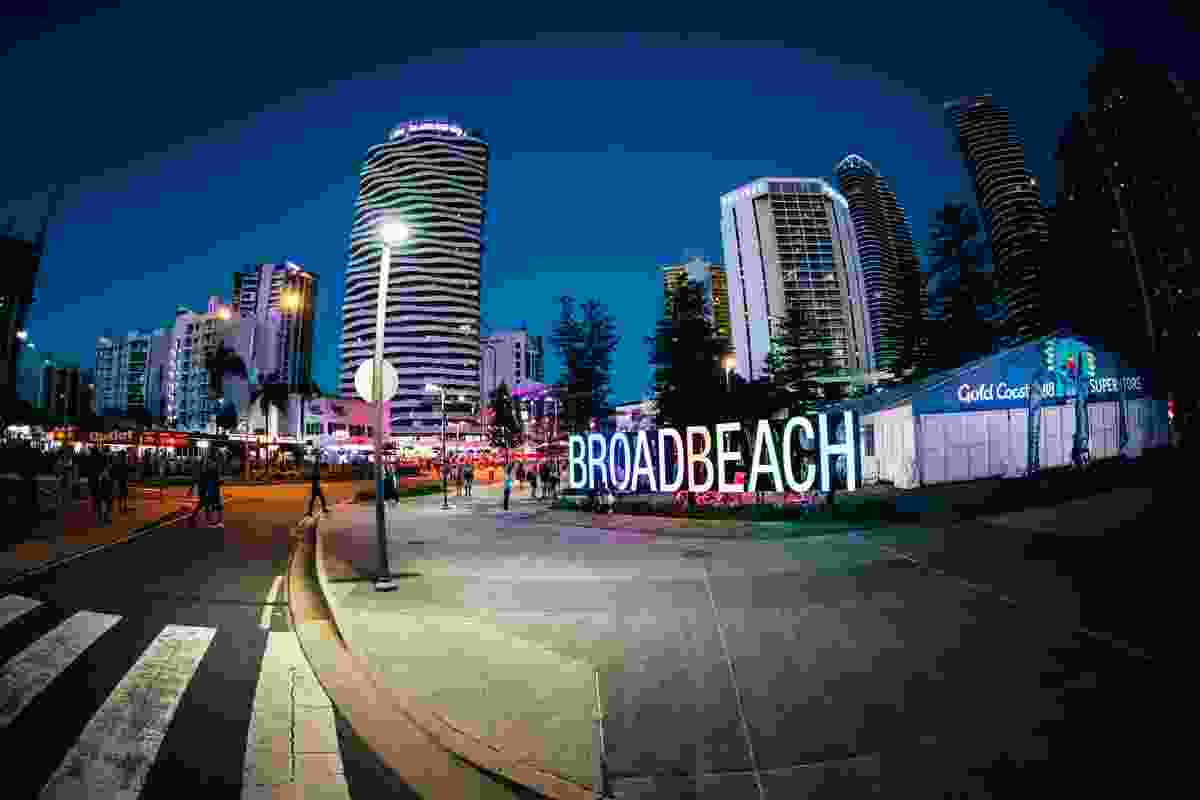 Broadbeach Entry Sign by City Place Making & City of Gold Coast won a Regional Achievement Award in the Tourism category.