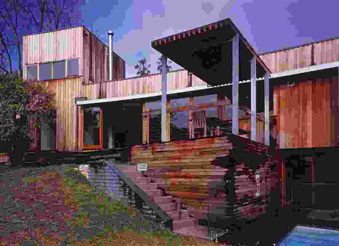 Mulbring House, 2002, by Clinton Murray showing the use of timber.