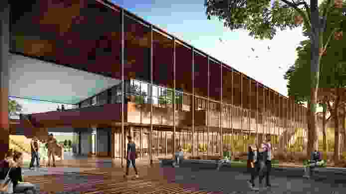 The Stage 2A building at Charles Sturt University's Port Macquarie campus, designed by BVN.