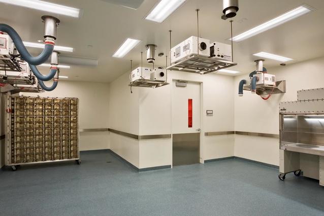 Flexible animal holding room: Biogen Idec Headquarters, San Diego, California