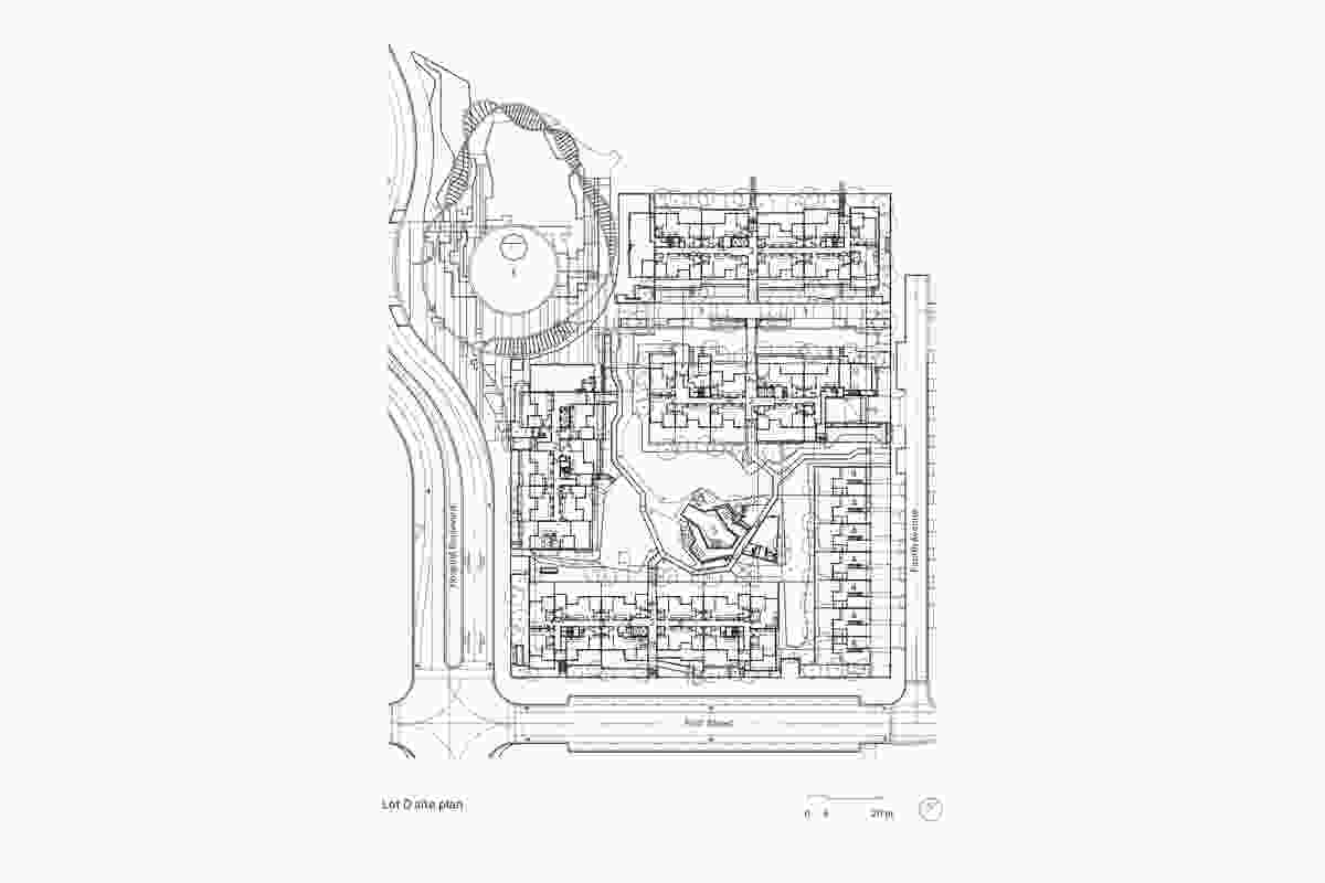 Site plan of Parklands by Arkhefield, ARM and Archipelago.