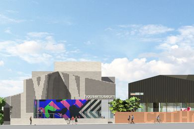 The proposed Lyon Housemuseum galleries designed by Corbett Lyon.