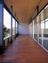 The verandah space of the rooftop extension.