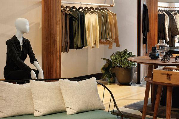 Colour and texture have been used to make the store feel personal, homely and curated.
