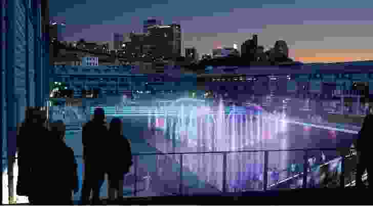 A proposed floating stage in the redevelopment of Walsh Bay Arts Precinct.