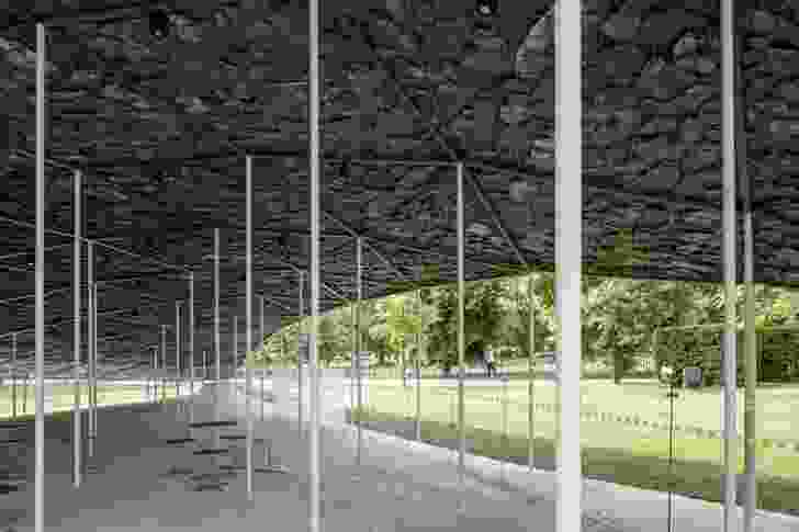 Serpentine Pavilion 2019 Designed by Junya Ishigami, Serpentine Gallery, London.