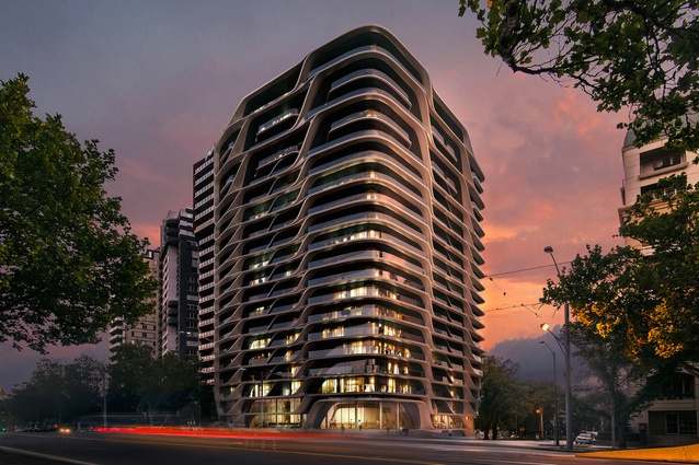 The Mayfair apartment tower designed by Zaha Hadid Architects.